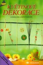 Květinové dekorace z windowcolor a dalších materiálů