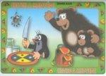 Krtek a medvědi - omalovánka