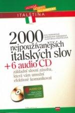 2000 nejpužívanějších italských slov + 6 CD
