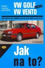 VW Golf diesel od 9/91 do 8/97, Variant od 9/93 do 12/98, Vento od 29/2 do 8/97