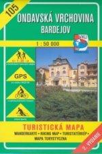 Ondavská vrchovina - Bardejov 1 : 50 000
