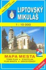 Liptovský Mikuláš 1 : 10 000 Mapa mesta Town plan Stadtplan Plan miasta Várostér