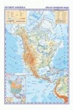 Severní a Střední Amerika Obecně zeměpisná mapa