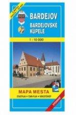 Bardejov Bardejovské kúpele Mapa mesta Town plan Stadtplan Plan miasta Várostérk