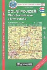 KČT 17 Dolní Pojizeří, Mladoboleslavsko a Nymbursko 1:50 000