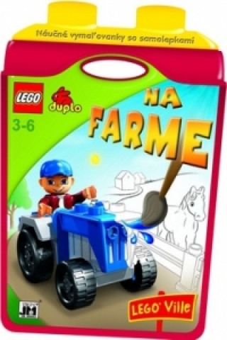 Náučné vymaľovánky so samolepkami Na farme LEGO