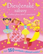 Dievčenské zábavy s knihou plnou aktivít a samolepiek