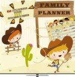 Plánovací Cowboys Family Planner - nástěnný kalendář