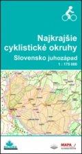 Najkrajšie cyklistické okruhy Slovensko juhozápad 1 : 175 000