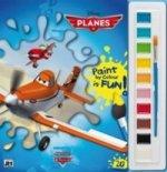 Lietadlá Vymaľovanky s farbami