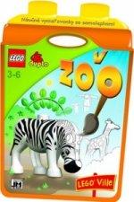 Náučné vymaľovánky so samolepkami V ZOO LEGO