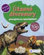 Úžasné dinosaury pracujeme so samolepkami