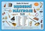 Sada 24 karet Hudební nástroje