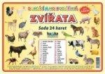 Sada 24 karet Zvířata domácí a hospodářská
