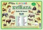 Sada 24 karte Zvířata exotická