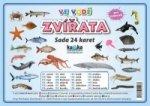 Sada 24 karet Zvířata ve vodě