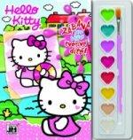 Hello Kitty omalovánka s vodovkami