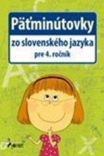 Päťminútovky zo slovenského jazyka pre 4. ročník