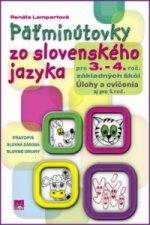 Päťminútovky zo slovenského jazyka pre 3. - 4. roč. základných škôl
