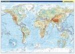 Svět nástěnná fyzická mapa