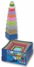 Dárkové krabičky čtvercové 12 kusů