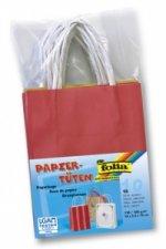 Papírové tašky s papírovým uchem 12x15 cm 10 kusů