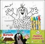 Krtek omalovánkové puzzle