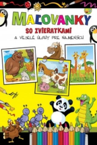 Maľovanky so zvieratkami a veselé úlohy pre najmenších