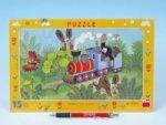Puzzle Krtek a lokomotiva