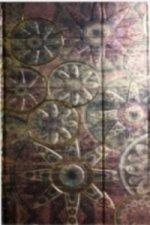 Zápisník s magnetickou klopou 100x180 mm zlatobronzový ornament C