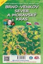 Brno venkov Sever a Moravský kras Skládací mapa