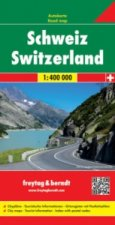 Automapa Švýcarsko 1:400 000