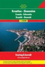 AA Chorvatsko-Slovinsko A4 atlas 1:150 000