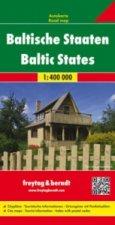 Automapa Litva, Lotyšsko, Estonsko 1:400 000