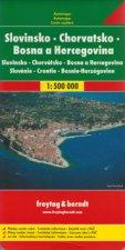 Automapa Slovinsko, Chorvatsko, Bosna a Hercegovina