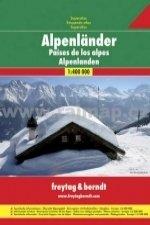 Alpské země, autoatlas 1:400 000