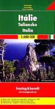 Itálie, mapa 1:600 000