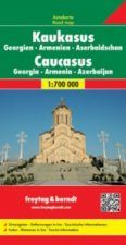 Caucasus - Georgia - Armenia - Azerbaijan Road Map 1:700 000