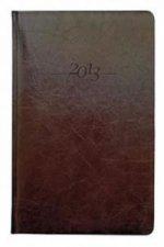 Diář kožený 2013 - CARUS hnědý - týdenní A5