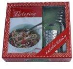 Těstoviny - sada (kniha, struhadlo na parmazán, kleště na těstoviny v krabici)
