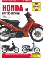 Honda ANF125 Innova Service and Repair Manual