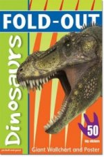Fold-Out Dinosaurs Sticker Book