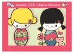 Japanese Dolls Shaped Notecards