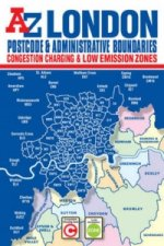 London Postcode & Administrative Boundaries Map