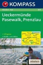 KOMPASS Wanderkarte Ueckermünde - Pasewalk - Prenzlau