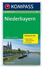 Kompass Karte Niederbayern, 3 Bl. m. Kompass Naturführer Wiesenblumen