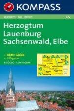 HERZOGTUM LAUENBURG SACHSENWALD, ELBE 1:50 000