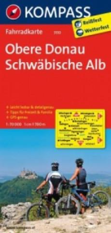 KOMPASS Fahrradkarte Obere Donau - Schwäbische Alb
