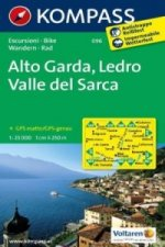 KOMPASS Wanderkarte Alto Garda - Ledro - Valle del Sarca