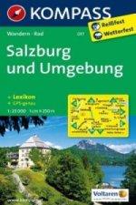KOMPASS Wanderkarte Salzburg und Umgebung